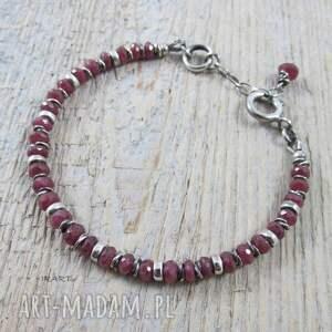 czerwone komplety srebro rubin - kobieco (komplet)