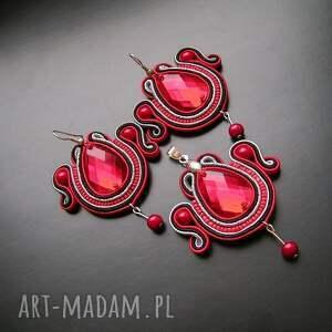awangardowe komplety sutasz rubinowy komplet biżuterii