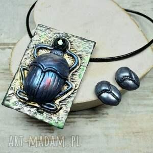 biżuteria egipska skarabeusz - komplet biżuterii