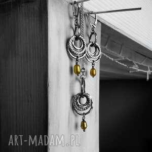 duży wisior srebro i barokowe perły