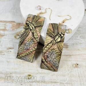 srebrne biżuteria ważki - komplet biżuterii długie