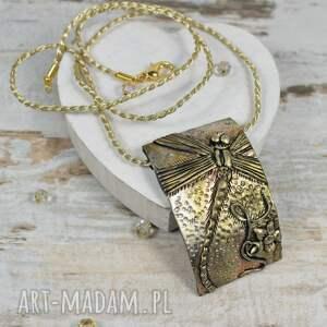 Ważki - komplet biżuterii długie kolczyki i zawieszka - biżuteria