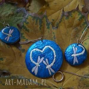 złote komplety miłość zakochane ważki - komplet biżuterii