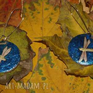 ważka komplety niebieskie zakochane ważki - komplet biżuterii