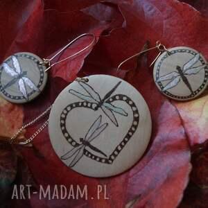 niesztampowe komplety ważka zakochane ważki - komplet biżuterii