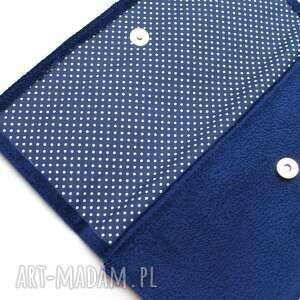 hand made elegancka kopertówka - ciemny niebieski