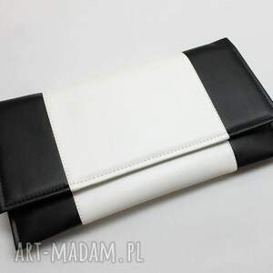 białe prezent kopertówka - czarna i środek