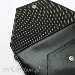 elegancka kopertówka - czarna