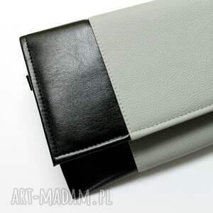 wyraziste elegancka kopertówka - czarna i środek