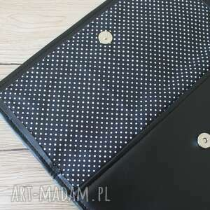 niekonwencjonalne kopertówki elegancka kopertówka - czarna i pasek
