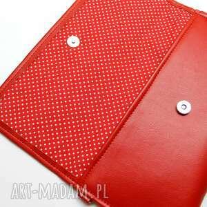 hand made elegancka kopertówka - czerwona