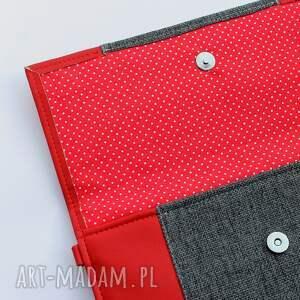 kopertówki wizytowa kopertówka - czerwona i środek dark