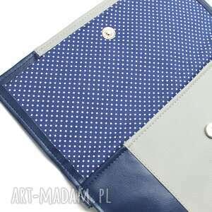 niebieskie elegancka kopertówka - granatowa i środek