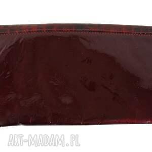 ręcznie robione manzana kopertówka skóra naturalna