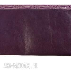 hand made torebka kopertówka manzana skóra naturalna
