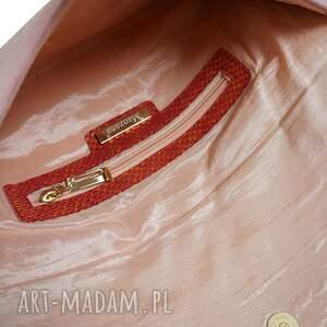 różowe kopertówki torebka-kopertówka kopertówka manzana skóra naturalna