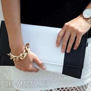 Kopertówka - perłowa i środek srebrny nowoczesna