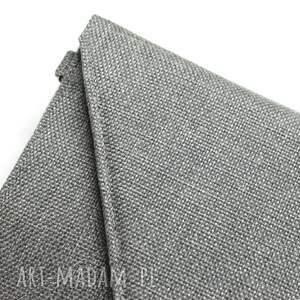Kopertówka - tkanina szara - wizytowa elegancka