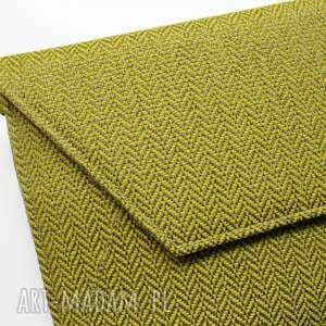 niepowtarzalne kopertówki jodełka kopertówka - tkanina w jodełkę