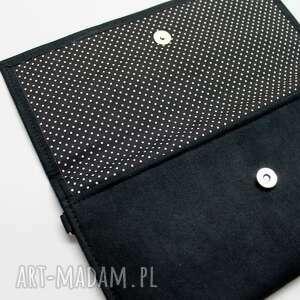 intrygujące kopertówki elegancka kopertówka - zamsz czarny