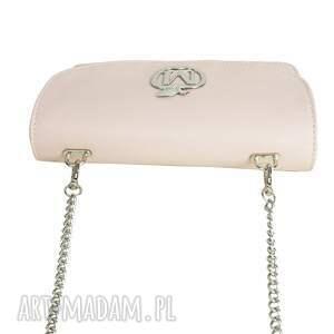 srebrne torebki mała elegancka listonoszka