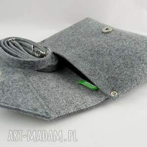 szare kopertówka mała szara torebka