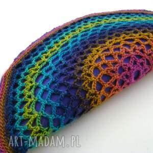 hand made cieniowana torebka - pierożek kolorowy:)