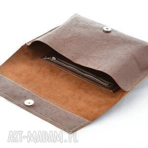 skórzana kopertówki minimalistyczna kopertówka
