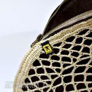 gustowne ażurowa oryginalna torebka do ręki - typu kopertówka