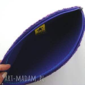 fioletowe kopertówka torebka - pierożek kolorowy:)