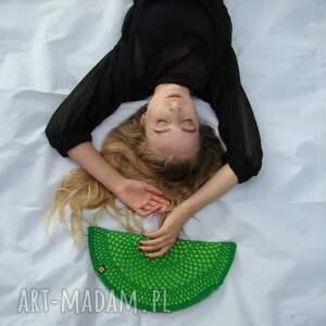 wyraziste torebka półksiężyc pierożek zielony