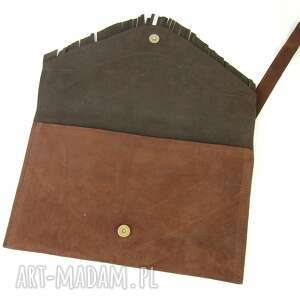 kopertówka torebka skórzana - brąz