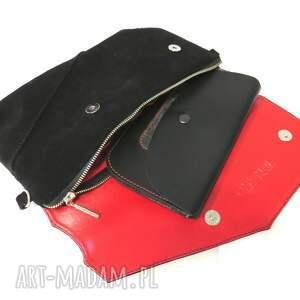 rękodzieło torebka zamszowa czarna