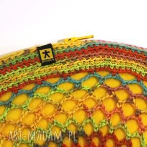BARSKA kolorowa wiosenno letnia torebka - żółty