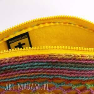 kolorowa wiosenno letnia torebka - żółty