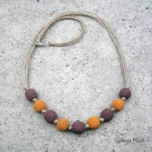 oryginalne korale miodowy pudrowy fiolet ii - naszyjnik