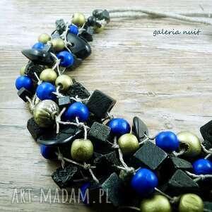 złote korale niebieskie złoto, kobalt i starocie
