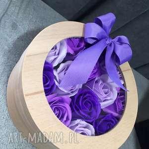 hand made kosmetyczki super prezent box kwiaty z mydła. oryginalny
