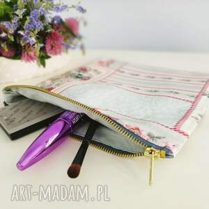 turkusowe kosmetyczki organizer kosmetyczka do torebki