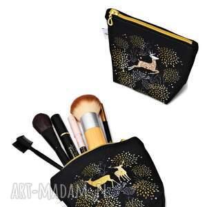 niesztampowe kosmetyczki kosmetyczka jelenie wodoodporna