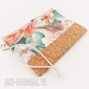 handmade kosmetyczki saszetka kwiatowa