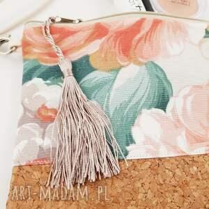 kolorowe kosmetyczki kopertówka kwiatowa saszetka