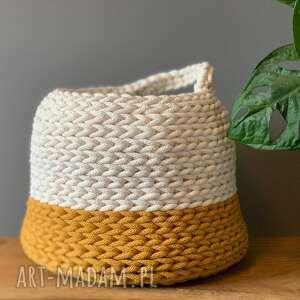 białe kosze koszyk kosz 03 - kolor naturalny musztarda