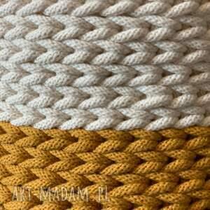 kosz 03 - kolor naturalny musztarda (rozmiar s) przechowywanie