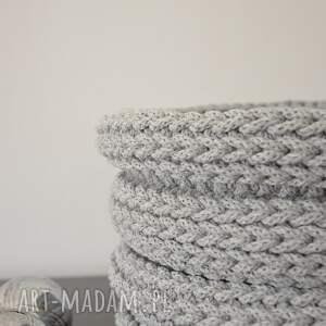 koszyk kosze kosz ze sznurka bawełnianego - duży