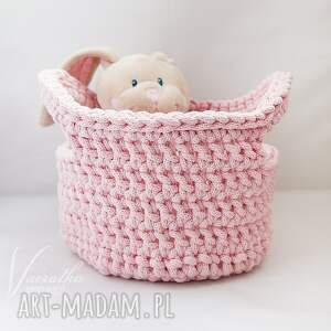 kosze przechowywanie koszyk różowy 116