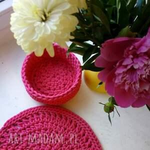 niekonwencjonalne kosze kosz różowy koszyk