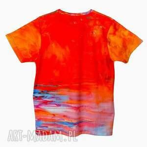 koszulki modny artystyczny t-shirt - malowany