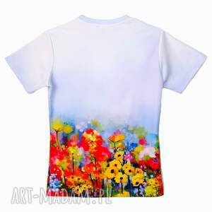 niepowtarzalne koszulki damska bluzka - abstract spring