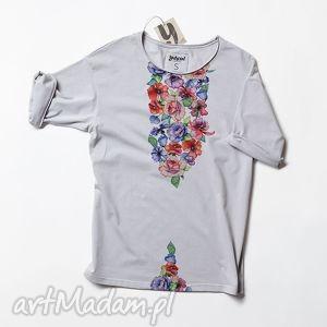 koszulki kwiaty flowers luźna prosta koszulka